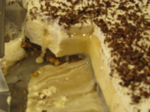 Caramel Chocolate Ice Cream Cake